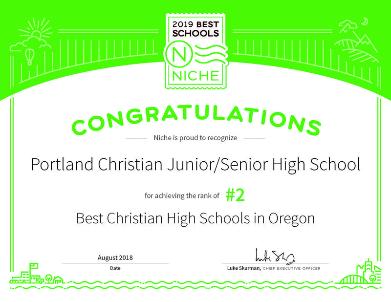 Portland Christian Jr/Sr High School moves up in the Rankings! Thumbnail Image