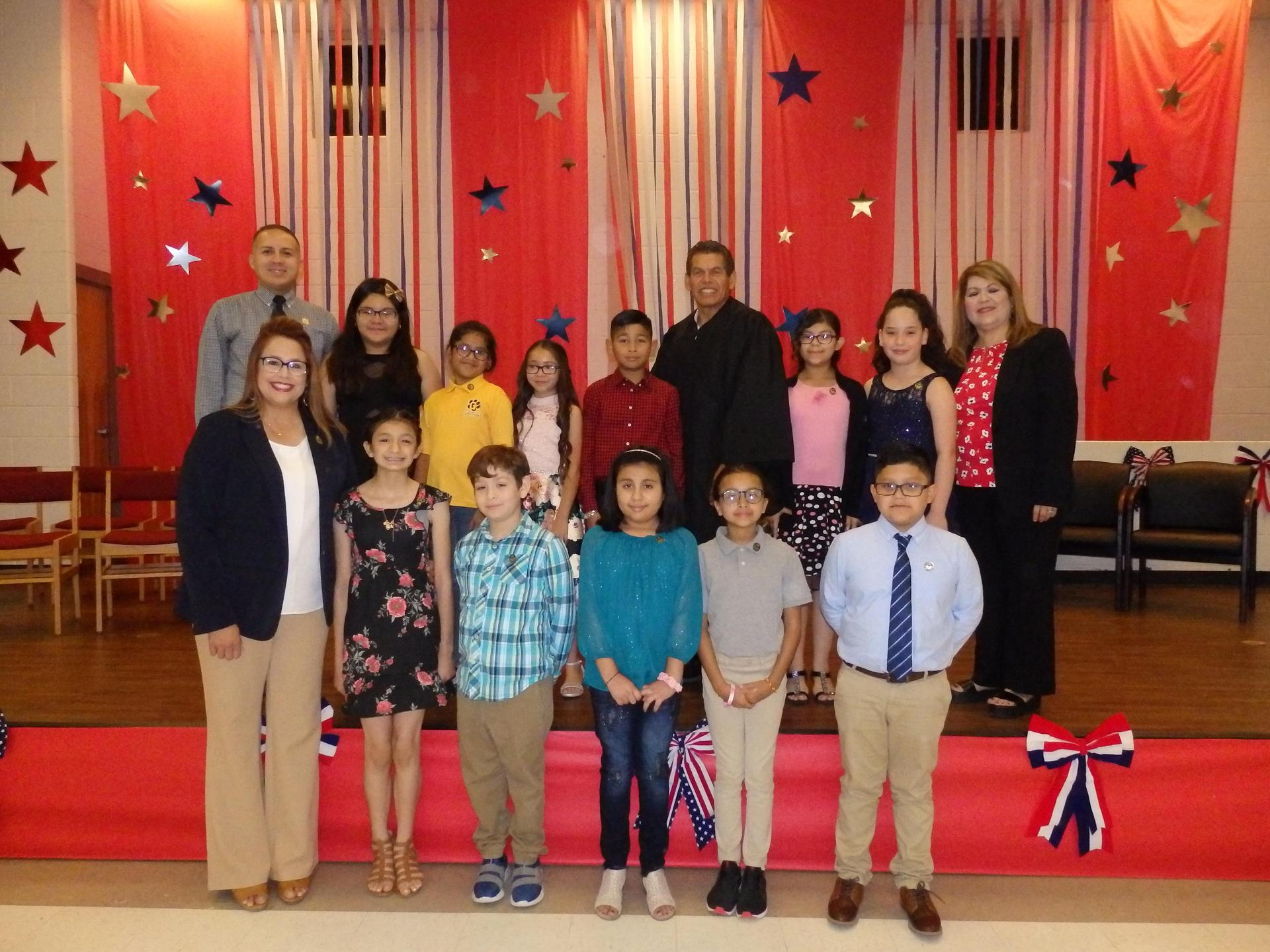 Elected Student council members 201-2020