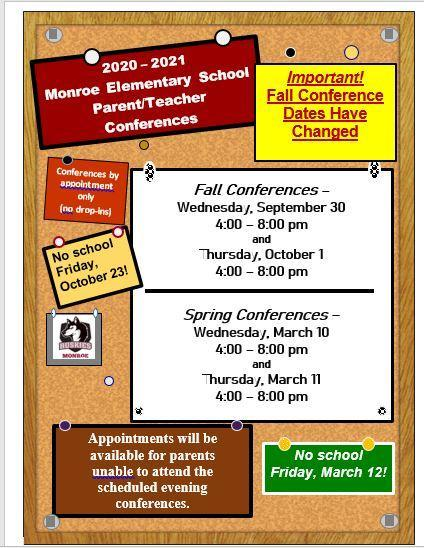 Parent/Teacher Conference Dates Changed Featured Photo