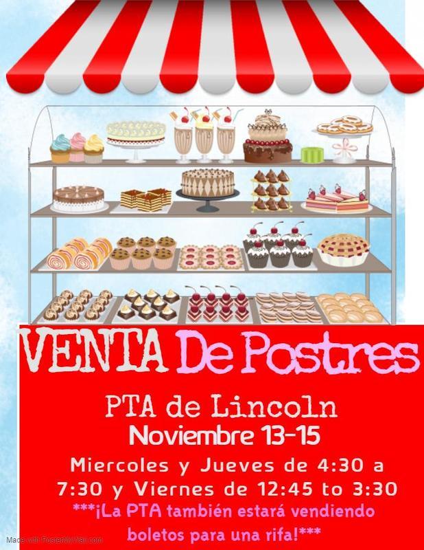 Bake Sale flyer Spanish