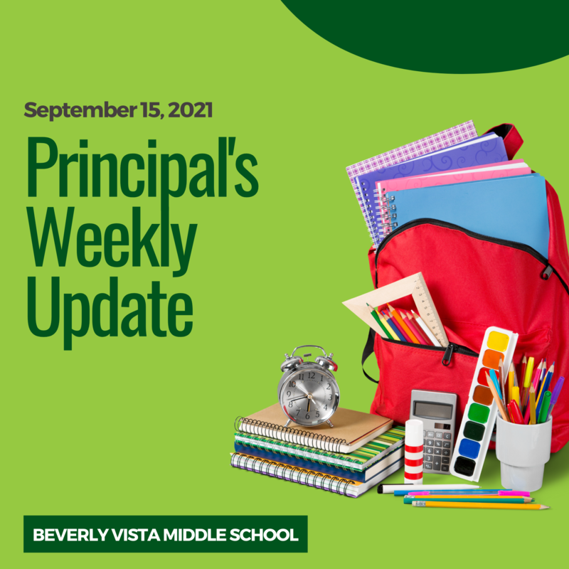 Principal's Weekly Message - September 15, 2021 Featured Photo