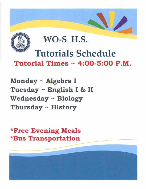 WOS-HS Tutorials Schedule