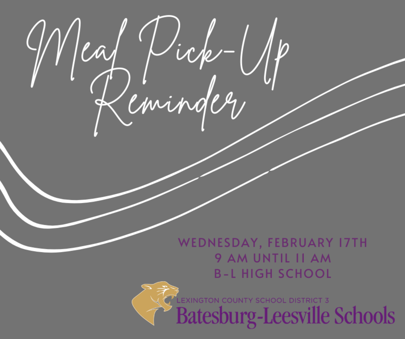 Free Meal Pick-Up Event Scheduled for Wednesday, February 17th