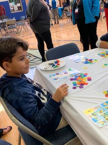 boy playing bingo