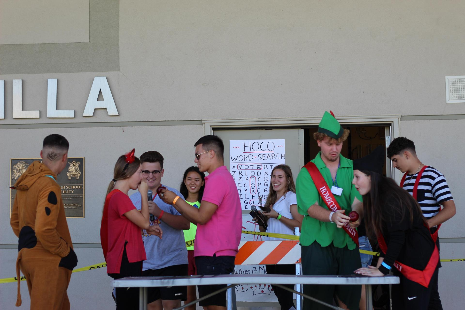 Homecoming Royalty At Lunch