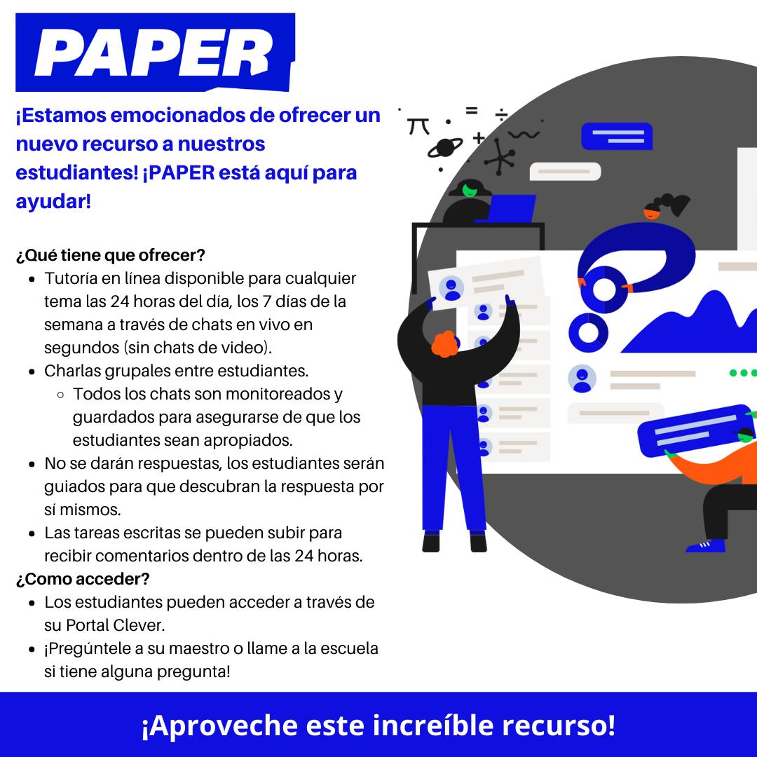 PAPER -Tutorias en Español las 24 hrs
