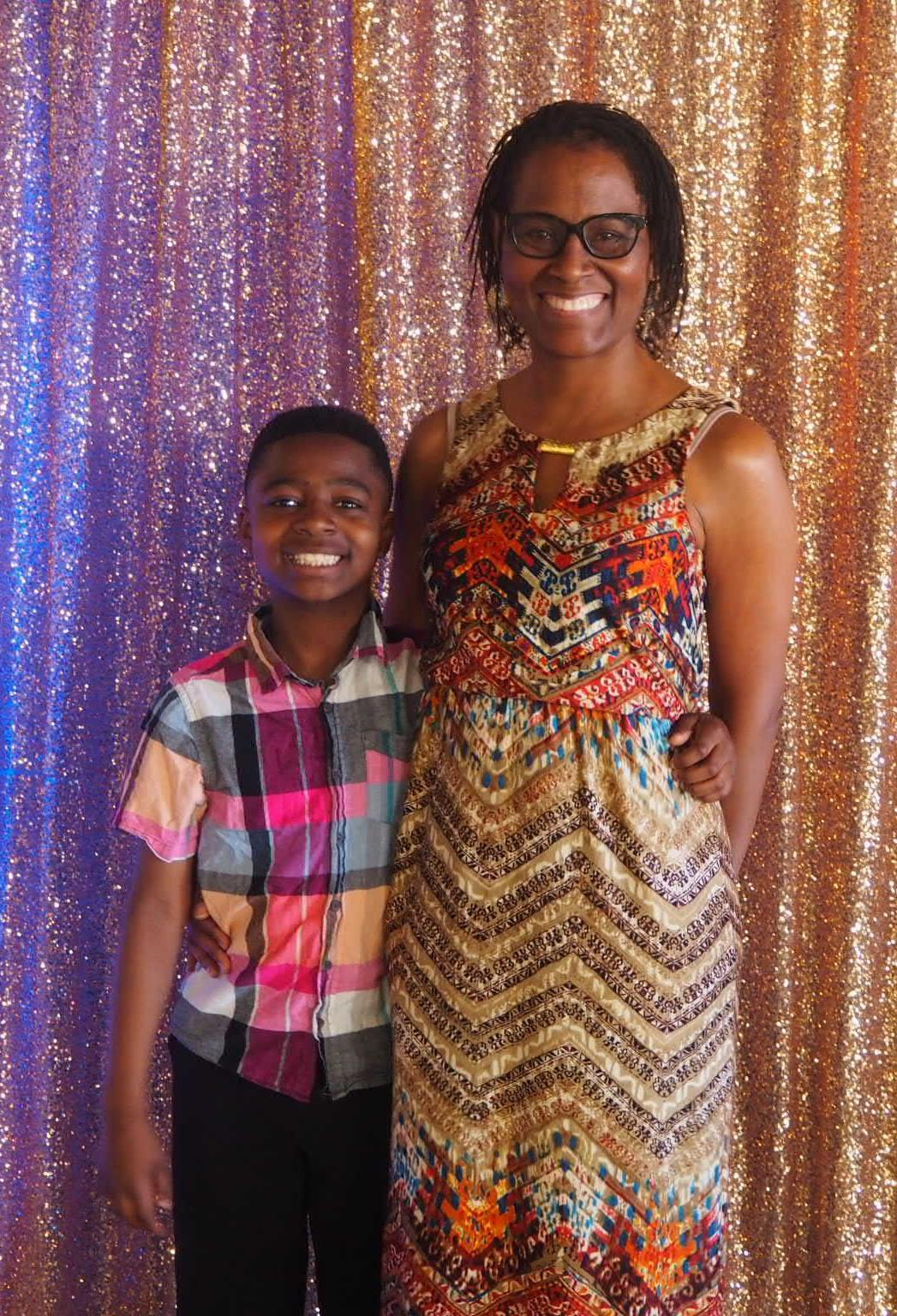 CEO Ronelle Swagerty and her son, an NBFA student, at the 2018 Guardian and Me Dance