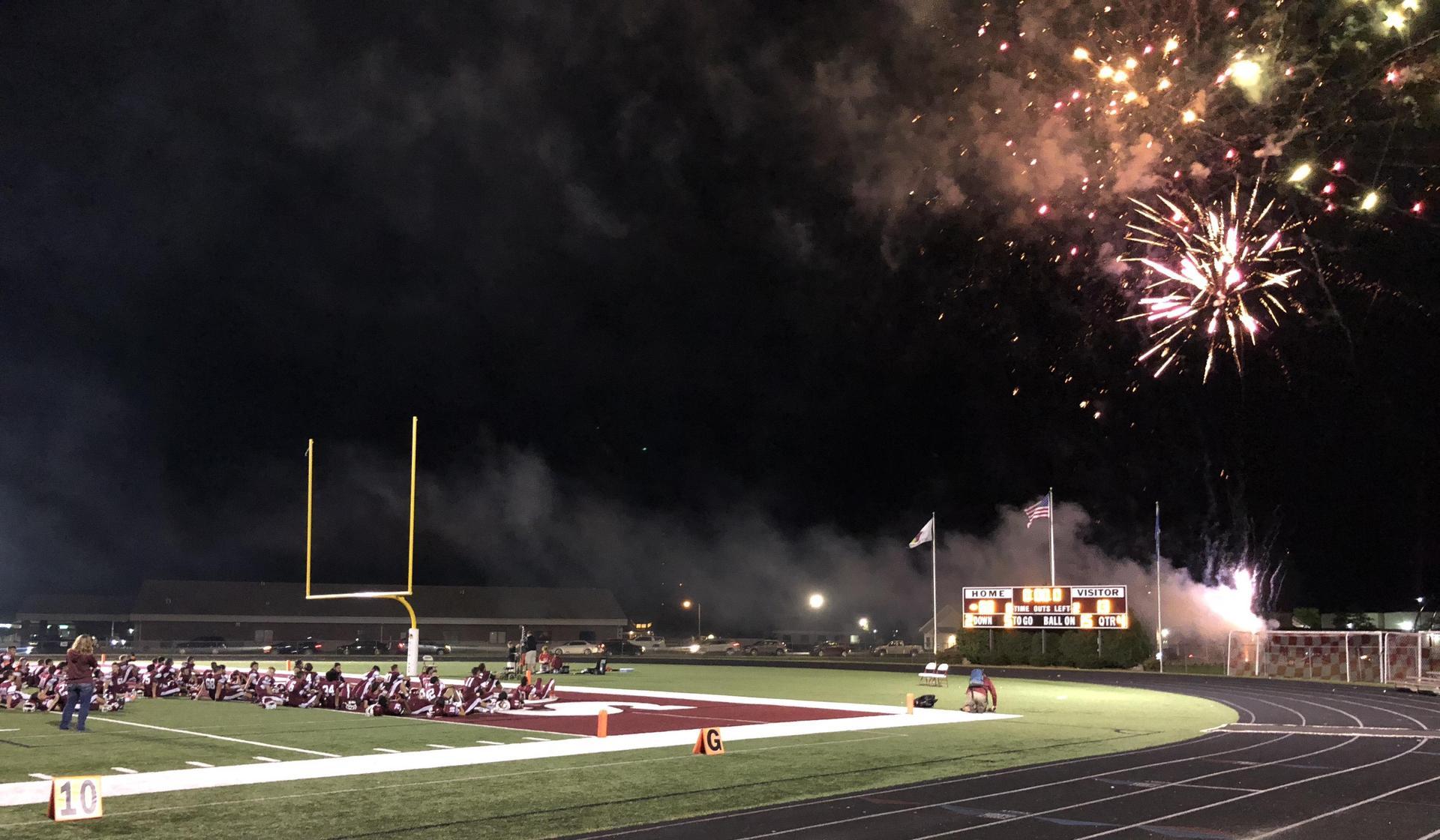Redbird Rally fireworks