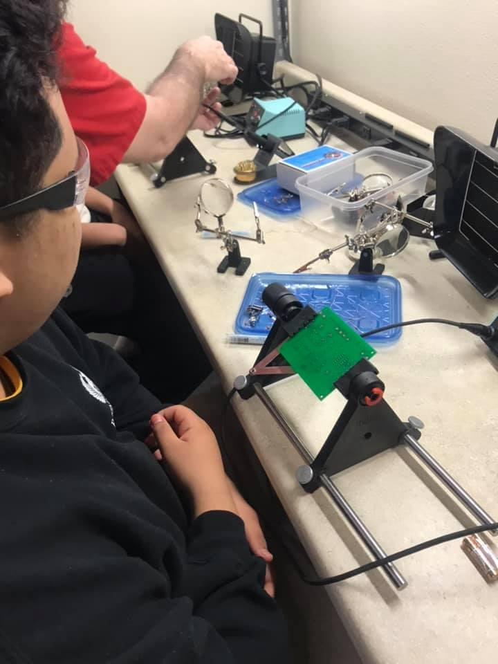 Robotics students at Moreno Valley