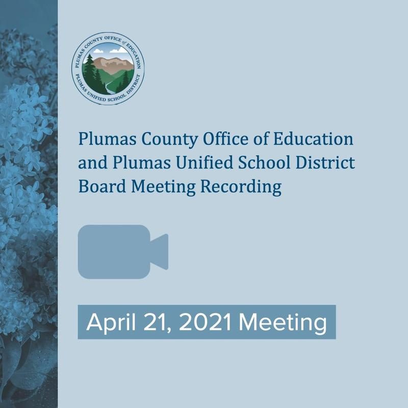 Cloud recording of PCOE/PUSD April 21 Board Meeting announcement
