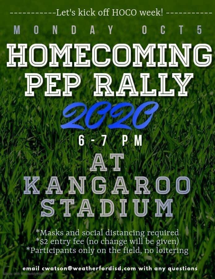 Homecoming Pep Rally Flyer