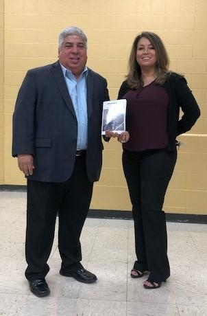 book presented to school