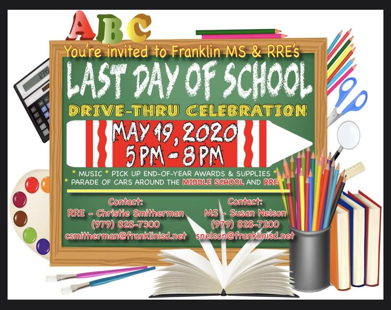 May 19th: FMS/RRE Last Day of School Parade Thumbnail Image