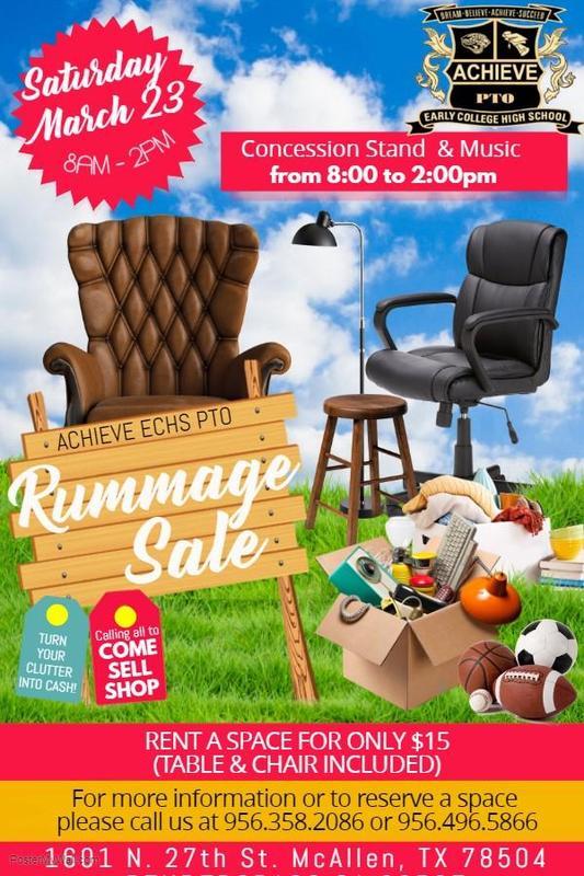 AECHS PTO Rummage Sale Flyer