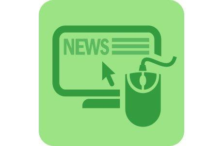 News with green color icon