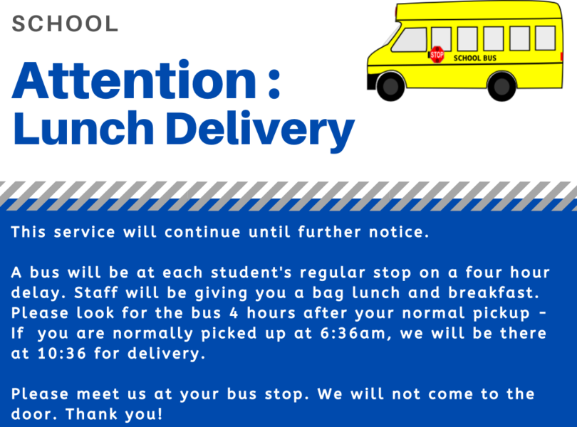 Lunch Delivery Announcement