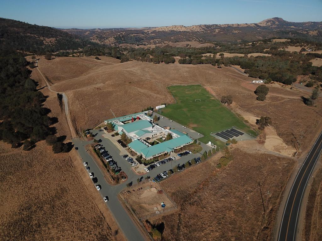 aerial view of Mountain Oaks Charter School