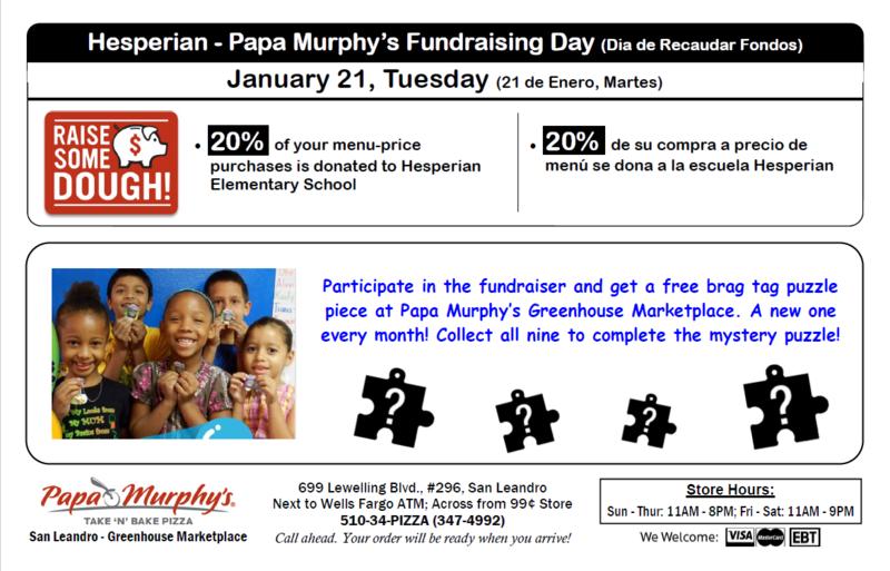 Hesperian's Papa Murphy's Fundraiser Night Featured Photo