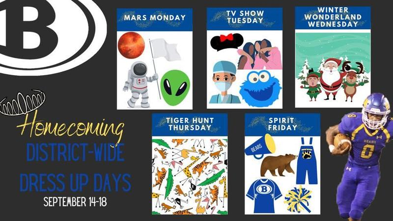 Homecoming week Sep 14th-18th Featured Photo