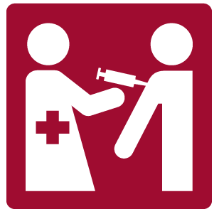 Icon of a nurse giving a shot