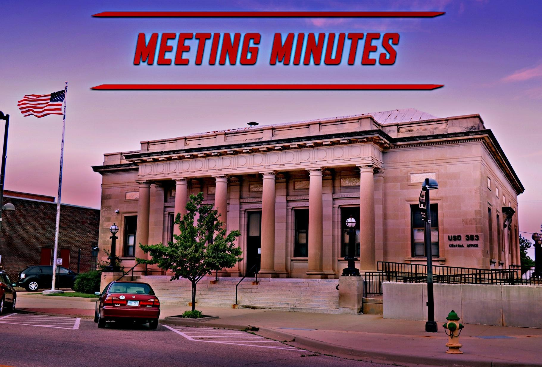 USD 353 BOE MEETING MINUTES Graphic