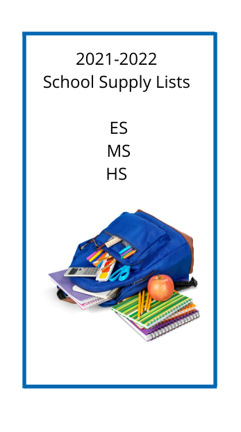school supply lists with a picture of school supplies