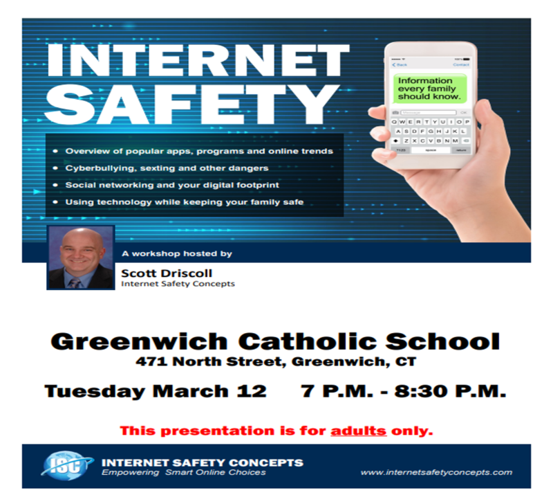 Internet Safety Workshop for Parents March 12th Thumbnail Image