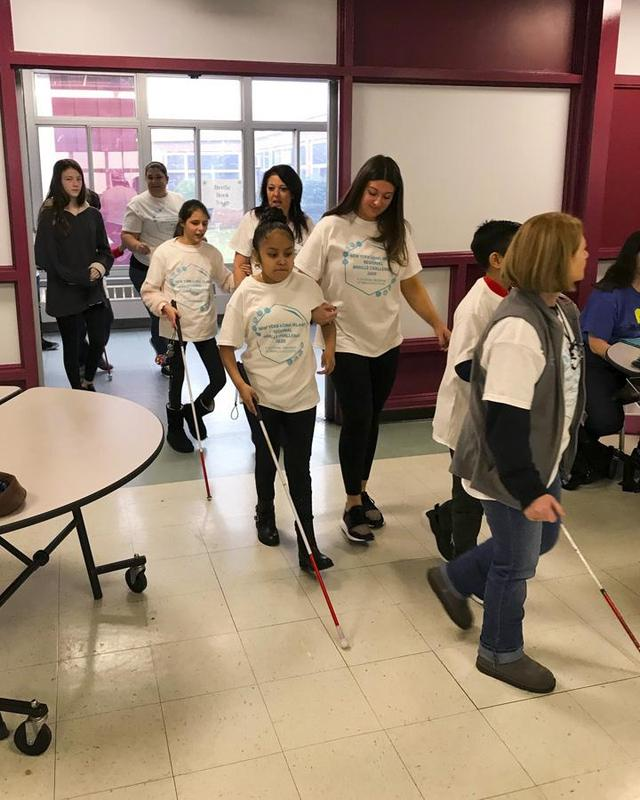 March in parade of the Braille Challenge