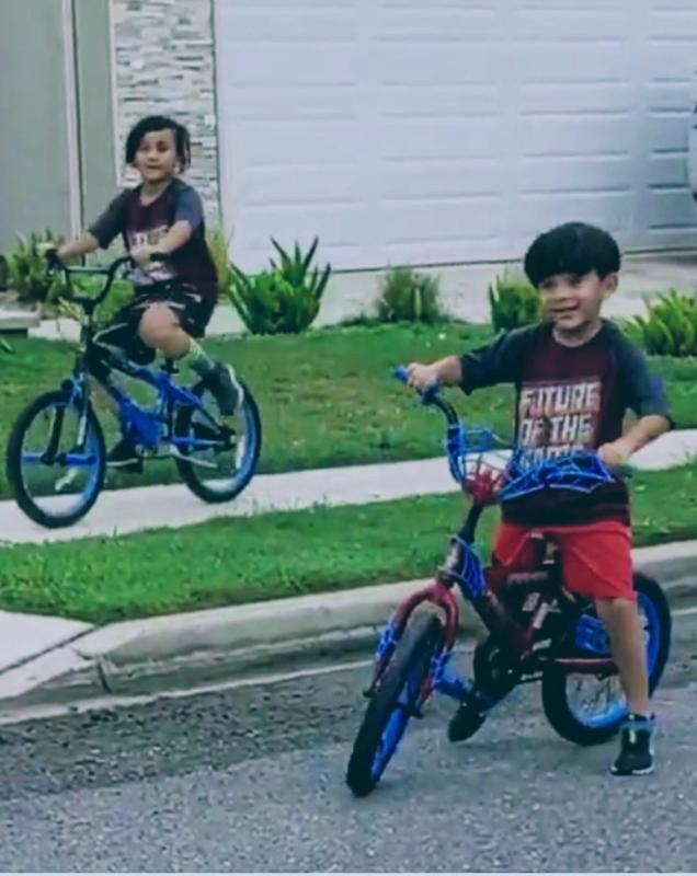 brothers biking