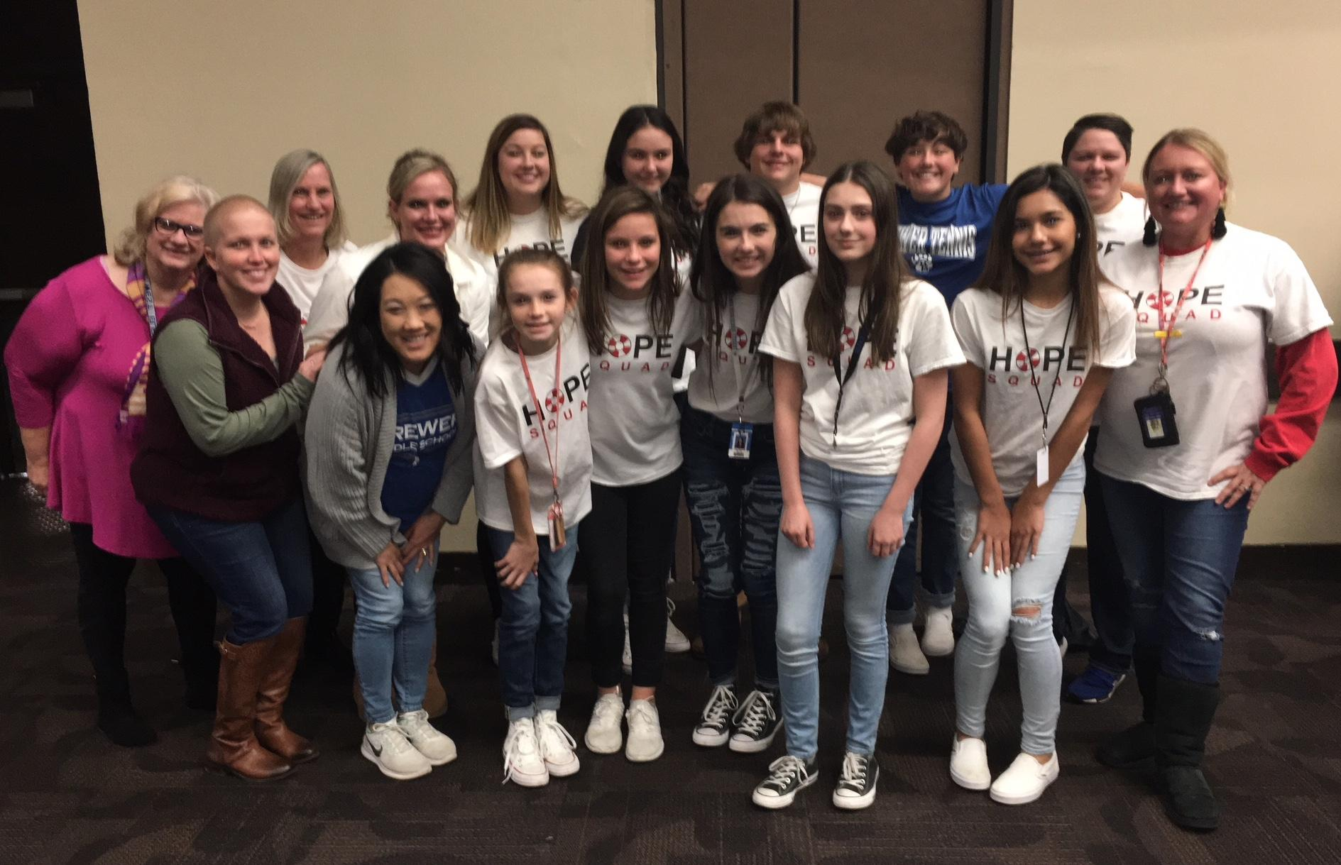 WSISD Students Represent HOPE Squads Throughout State at Luncheon to Raise Funds for Suicide Prevention