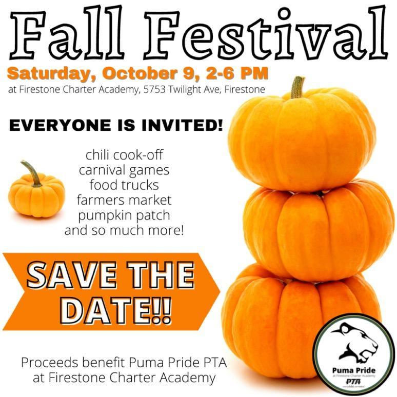 Fall Festival - SAVE THE DATE Featured Photo