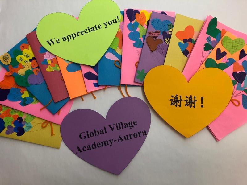 GVA Aurora Thank you cards to Children's staff