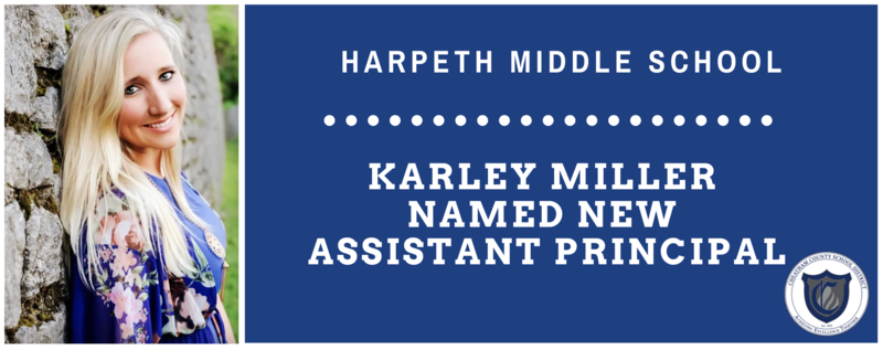 Karley Miller is the new assistant principal at Harpeth Middle School.