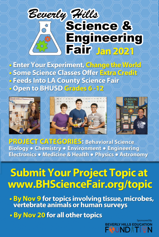 Beverly Hills Science Fair Flyer