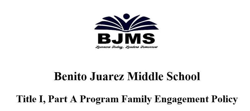 BJMS Title I, Part A Program Family Engagement Policy Featured Photo