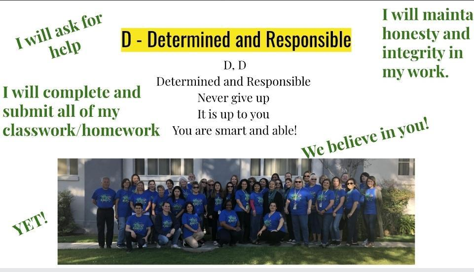 D = DETERMINED & RESPONSIBLE