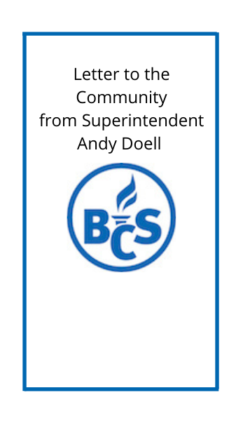 Letter to the community with bloomfield logo
