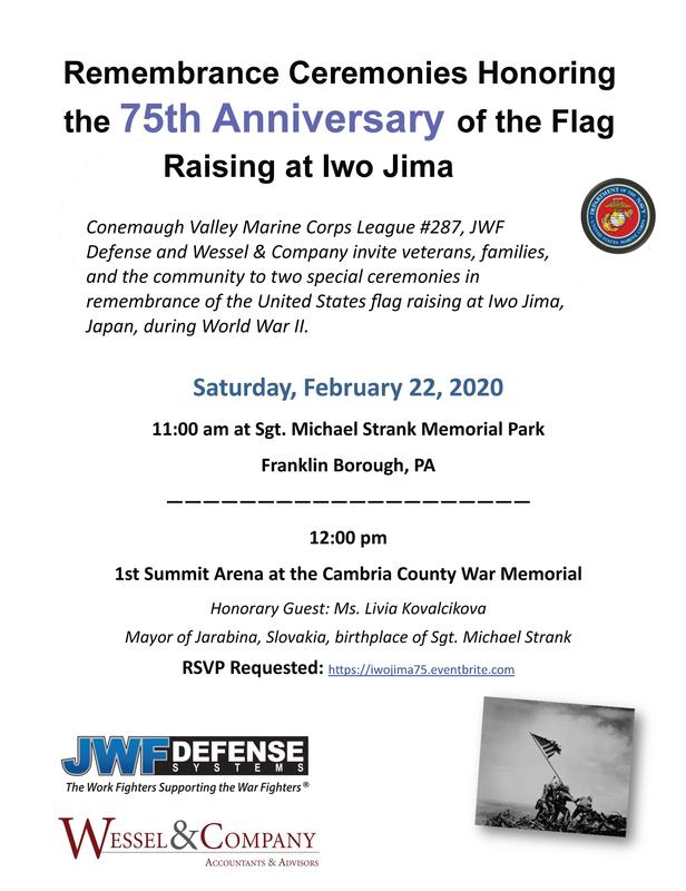 Free Community Remembrance Ceremonies Honoring the 75th Anniversary of Flag Raising at Iwo Jima Featured Photo