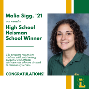 Malia Sigg High School Heisman