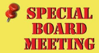Special Board Meeting