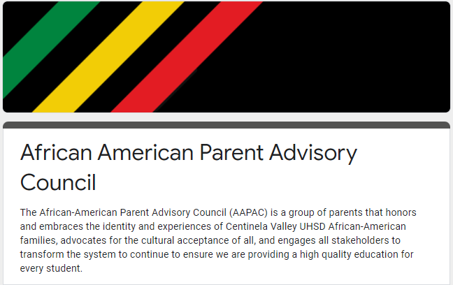 African American Parent Advisory Council Survey Featured Photo