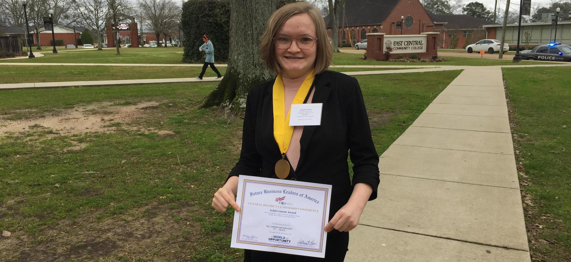Picture of Kaleigh Griffith, 1st Place FBLA District