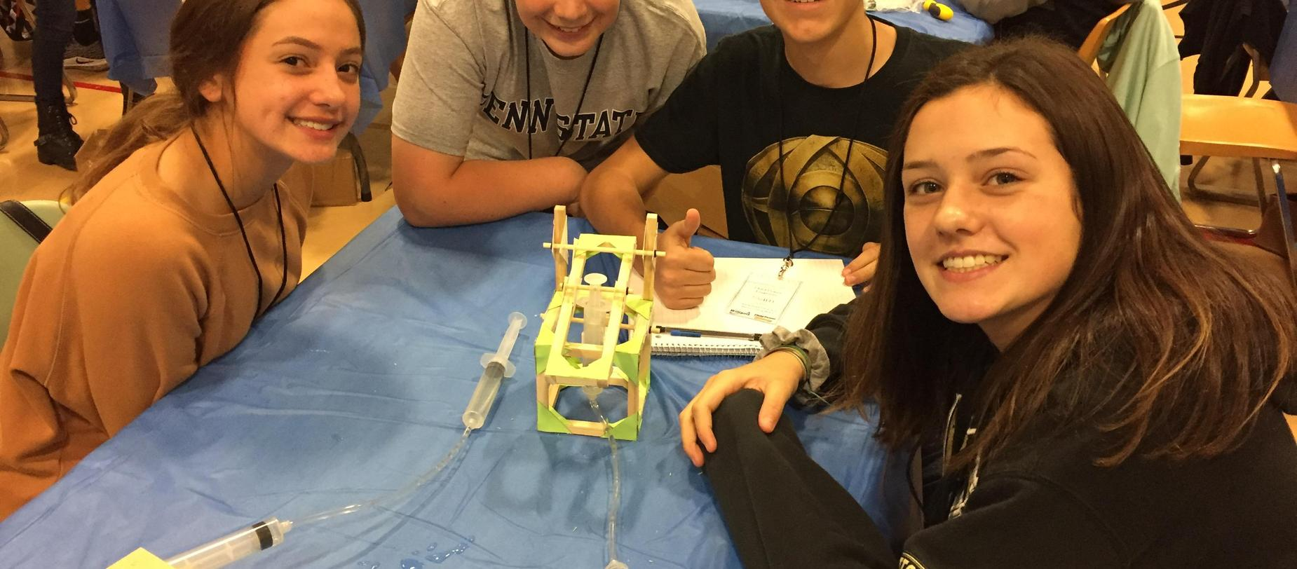 Students attending the Fluid Power Competition