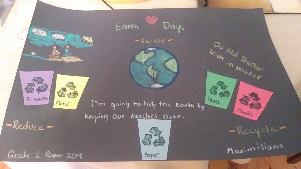 earth day recycle poster