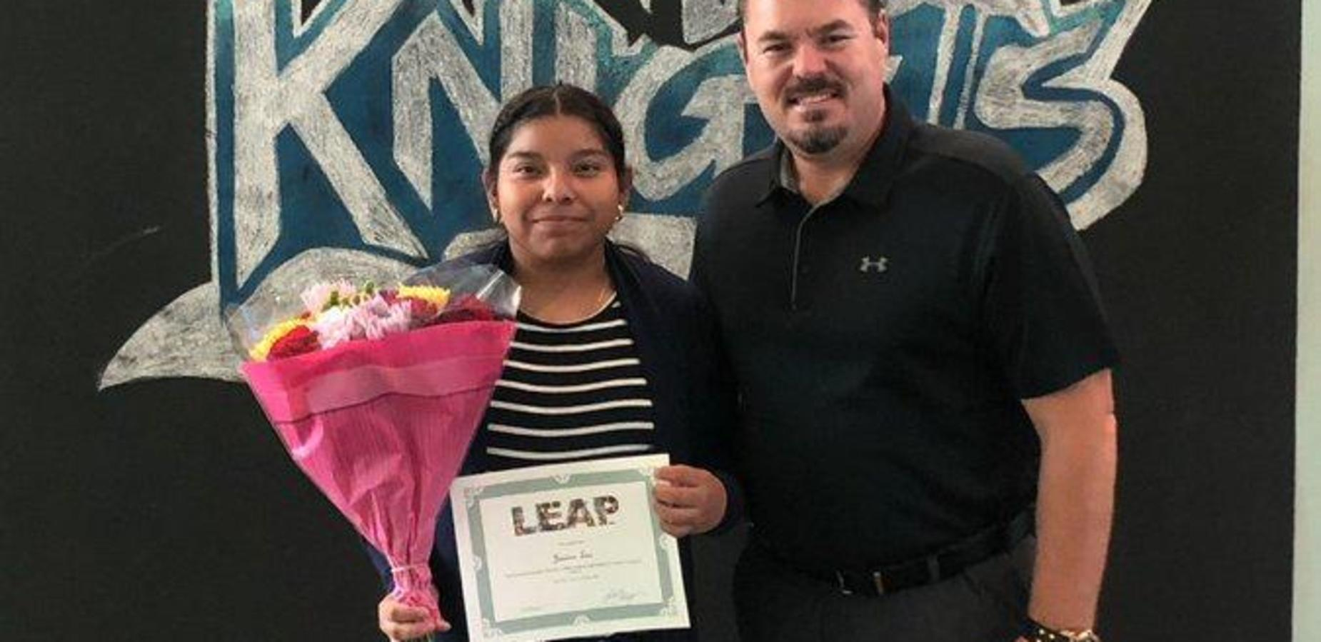 Congratulations to our LEAP student of the month for October, Jessica Lua, she exemplifies leadership and support for her school community. #LEAP #leapingintosuccess #ittakesavillage #proud2bepusd