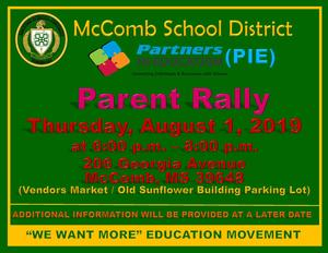 McComb School District Partners In Education (PIE) Parent Rally News 2019