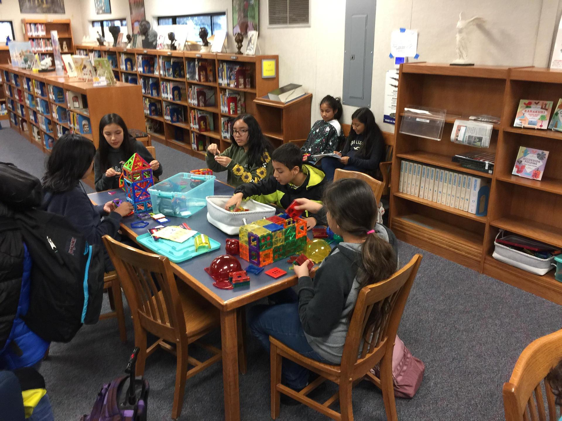 Lunch Recess in the Library_