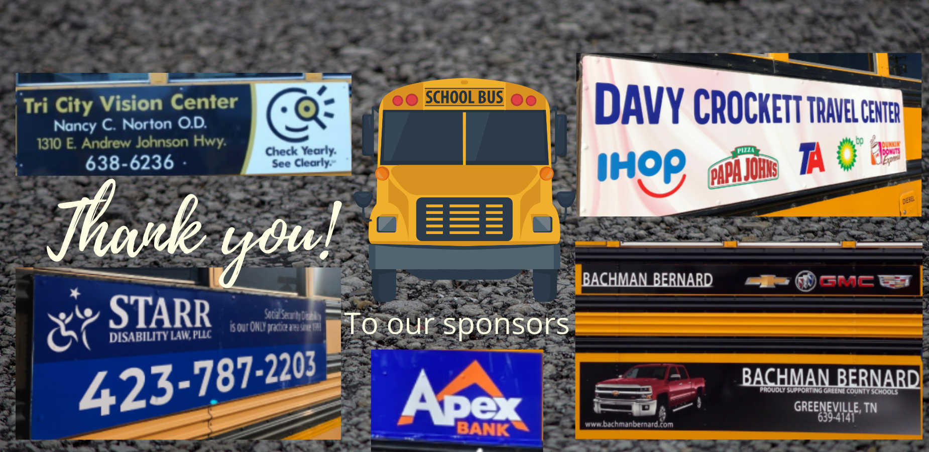 Thank you to bus sponsors