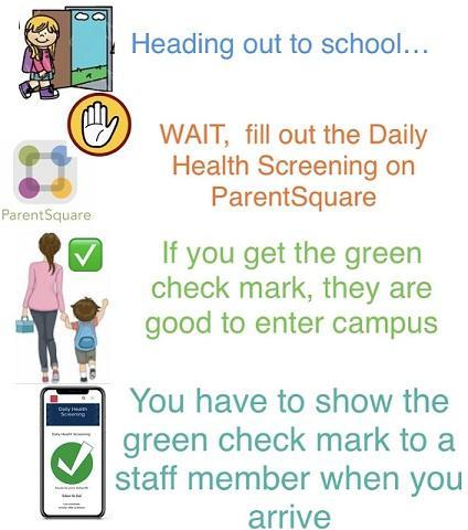 ParentSquare Green Checkmark when you Drop Off Your Student Featured Photo