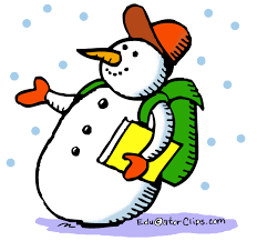 snowman with backpack